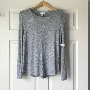 Old Navy Grey Ribbed Lightweight Sweater-Size M